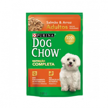 Dog Chow PS Adulto Salmão e Arroz - Raças Pequenas 100g