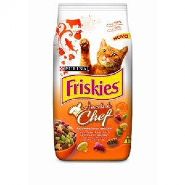 Ração Friskies À Moda do Chef - Carne