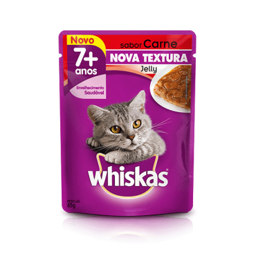 Sachê Whiskas Jelly Adulto +7 -  Sabor Carne 85g