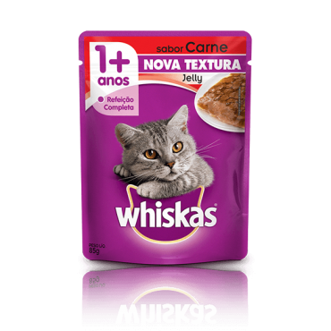 Sachê Whiskas Jelly Carne 85g