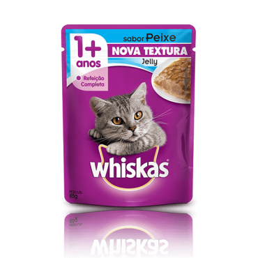 Sachê Whiskas Jelly Adulto Sabor Peixe 85g